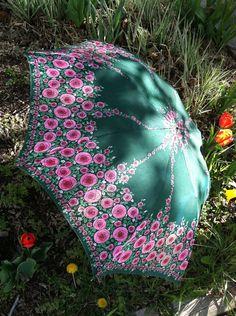Vintage Umbrella 1960's1970's by misssaltyvintage on Etsy