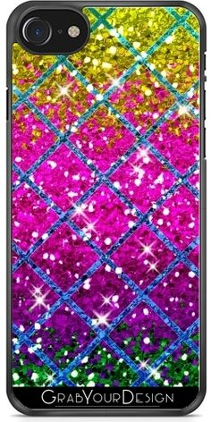 GrabYourDesign - Case for Iphone Glitter Purple Snakeskin - by Vs Pink, Purple, Cool Iphone Cases, Snake Skin, Iphone 7, Glitter, Accessories, Iphone Seven, Viola