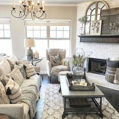 Get the inspiration you need to improve your 10 Best Farmhouse Living Room Makeover Decor Ideas !High level decor ideas for everyone! Check out our decoration suggestions! Living Room Designs, Living Room Decor, Living Rooms, Barn Living, Apartment Living, Cottage Living, Decor Room, Family Rooms, Room Art