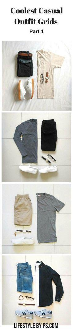 Moda Hombre Casual Ideas Outfit Grid 26 New Ideas Grid Converse Mens Fashion Blog, Best Mens Fashion, Look Fashion, Mode Masculine, Casual Wear, Casual Outfits, Men Casual, Outfit Jeans, Mode Outfits
