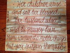 Wood Pallet Art decor Proverbs 312829 by HollysHobbiesTN on Etsy