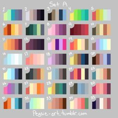 Sooper Lame Art Blog - Scheme sheets I made (I'm still working on more),...