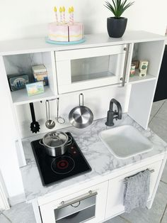 IKEA hack DUKTIG kitchen #kids #ikea #duktig #kitchen