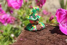 Check out this item in my Etsy shop https://www.etsy.com/listing/456438236/miniature-fairy-house-pink-berry-fairy
