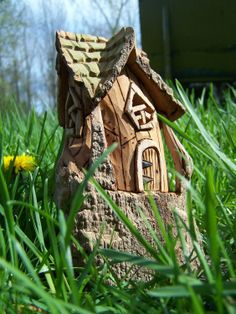 Cottonwood Bark Gnome Home by ChipsNKnotsCreations on Etsy
