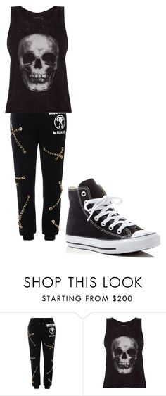 """""""I like death what about you?"""" by isaac-lahey-14 on Polyvore featuring Moschino, ElevenParis and Converse"""