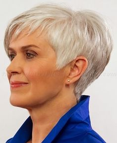 Short Hairstyles for Women Over 50 Gray Hair | ... short haircuts for women over…