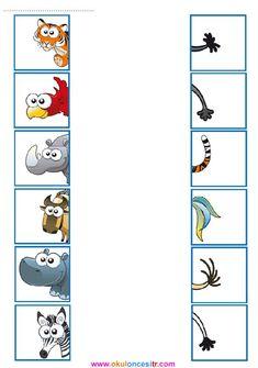 Ocean Animals Activities, Cut and Paste Puzzles, Matching Games Educational Activities For Kids, Montessori Activities, Book Activities, Kids Learning, Preschool Centers, Preschool Math, Kindergarten Worksheets, Kids Education, Special Education