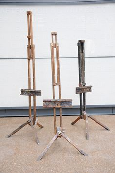 Easels complete with paint