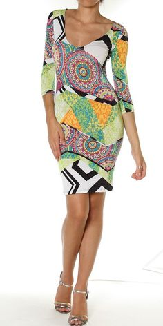 We love the print of this dress! Now avail for purchase www.Chicbella.Storenvy.com