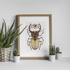 Bug collection: This piece is an original. It is part of a series of monster-bugs. It is a drawing made with colour pencils on paper, the size is The frame is not included. Bugs, Etsy, The Originals, Frame, Collection, Home Decor, Handmade Gifts, Hand Made, Picture Frame