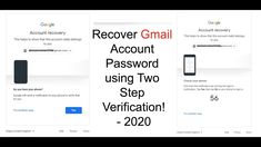 How to Recover Gmail Account Password using Two Step Verification Check Your Email, Email Id, Account Recovery, Google Account, It Network, Accounting
