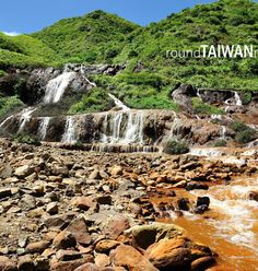 The Golden Waterfall, Taiwan #Taiwan