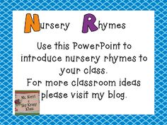 Blog post about first week of school activities. There is a freebie for nursery rhymes.