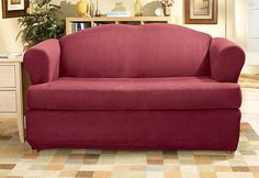 Sure Fit Slipcovers Stretch Suede Separate Seat T-Cushion - Loveseat T-cushion