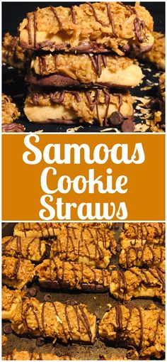 Samoas Cookie Straws