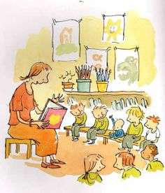 Simon James (Baby Brains - a lovely, lovely book) I Love Books, Books To Read, Quentin Blake Illustrations, Book Art, Reading Art, Lectures, Children's Book Illustration, Book Illustrations, Book Images