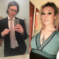 About 4 years between pics. my boobs are bigger, but I still look like that guy without my make up on… I only mention that as reference since there are so many of us out there struggling with self image : transtimelines Transgender Transformation, Male To Female Transformation, Male To Female Transition, Mtf Transition, Male To Female Transgender, Transgender Girls, Mtf Before And After, Self Image, Change Is Good