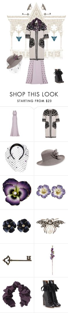 """""""Indulge Your Dark Side with Crimson Peak : Contest Entry"""" by captainsolo ❤ liked on Polyvore featuring Bibhu Mohapatra, Naeem Khan, Piers Atkinson, Philip Treacy, Bajra, Chloé, vintage and CrimsonPeak"""