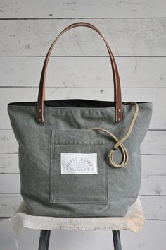 WWII era Canvas Pocket & Apron Tote Bag