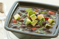 Simple Black Bean Soup // A fantastic dish for cold weather... And it's #vegan! #recipe