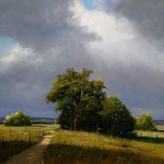 Spring Storm by Renato Muccillo .... beautiful painting... i get a very positive feeling just looking at this painting.