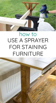 How to stain furnitu