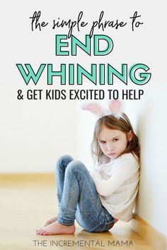 Do your kids whine the minute you ask them to do something? This simple phrase will end whining and get kids excited to help out. Parenting Toddlers, Good Parenting, Parenting Hacks, Happy Mom, Happy Kids, Special Needs Mom, Charts For Kids, Positive Discipline, Raising Boys