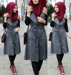 hijab outfit inspiration - Another! Modern Hijab Fashion, Street Hijab Fashion, Abaya Fashion, Muslim Fashion, Fashion Outfits, Hijab Style Dress, Hijab Chic, Hijab Outfit, Modele Hijab
