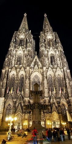 Cologne Germany - Dom (= Doom = Evil/Dark/Scary!)  AMAZING Cathedral! Midevil,took 800 years (yes, 800 years!) to build!! Jim and I took turns climbing the stairs to see the view. One of the most incredible  things I've seen....