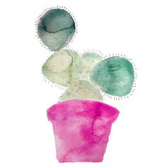 Prickly Pear Watercolor Print - Waiting On Martha