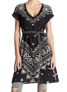 17cb011717 Johnny Was Nwt black Embroidered V-neck Tunic Size 8 (M). Free shipping
