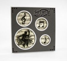 Tonic Studios is adding to its ever growing family of Rococo and Rococo Petites with the new die range Rococo Music.
