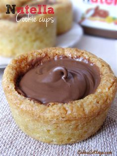 Nutella Cookie Cups - Cute,  bite-sized and always fun for Holiday desserts