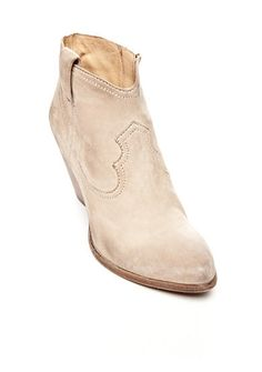 Frye Reina Bootie -  Western-inspired style reinvents itself in this chic bootie. It's crafted in a soft, nubuck upper, providing style and protection, and it features an inside zip for easy on-and-off access.
