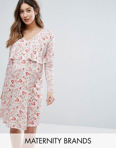 Buy it now. Bluebelle Maternity Nursing Floral Double Layer Dress - Multi. Maternity dress by Bluebelle Maternity, Stretch jersey, All-over floral print, V-neck, Double-layer design ideal for nursing, Long sleeves, Regular fit - true to size, Designed to fit during and post pregnancy, Machine wash, 96% Polyester, 4% Elastane, Our model wears a UK 8/EU 36/US 4 and is 169cm/5'6.5 tall. ABOUT BLUEBELLE MATERNITY Bluebelle Maternity is upping your maternity game to a perfect 10. Give your bump a…