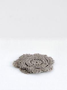 Coaster, Linen Crochet