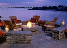 granite square fire pit garden patio www.homesalemalta.com