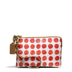 The Bleecker Small Wristlet In Painted Dot Coated Canvas from Coach