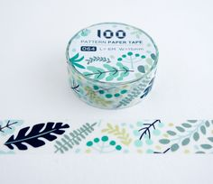 Single roll of washi masking tape with forest leaves pattern. Great for travel journals, scrapbooking, gift wrapping, decorating cards and envelopes and more! Add a little dash of cuteness to any craf