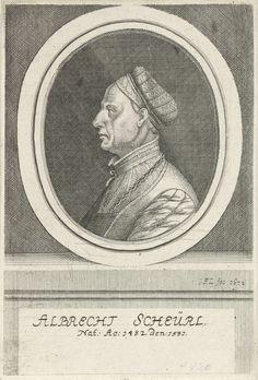 Johann Friedrich Leonard | Portret van Albrecht Scheurl, Johann Friedrich Leonard, 1672 | Portret van Albrecht Scheurl, koopman te Neurenberg.