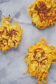 Spiralized Butternut Squash Fritters (Gluten-Free & Dairy-Free)
