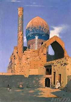 Wassili+Wassiljewitsch+Wereschtschagin+-+Gur-Emir-Mausoleum+in+Samarkand