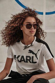 244383af3a8 Khadijha Red Thunder Models Karl Lagerfeld x Puma Capsule Collection