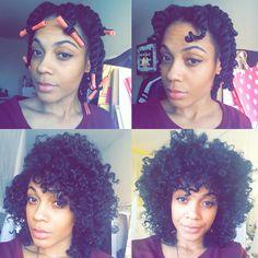 Natural Black Hair Twists.