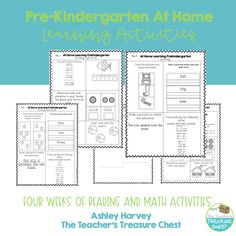 Pre-Kindergarten Learning Mats