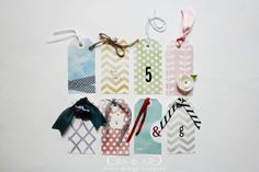 embellished gift tags