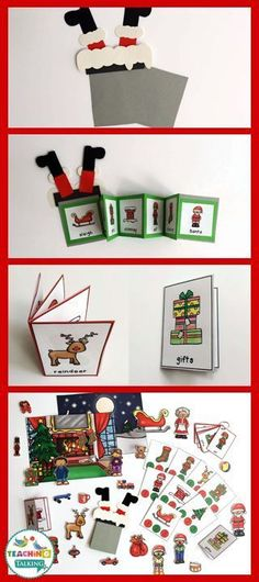 Chrstmas Theme Vocabulary Activities & Foldables by teachingtalking.com