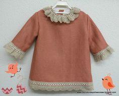 vestido-niña | Tutorial for A-line dress for girls