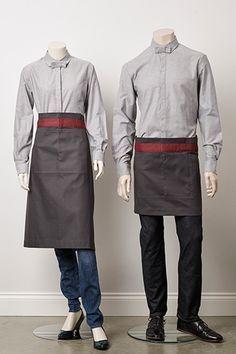Αποτέλεσμα εικόνας για cotton waistcoat with t-shirt casual uniforms for waiting staff